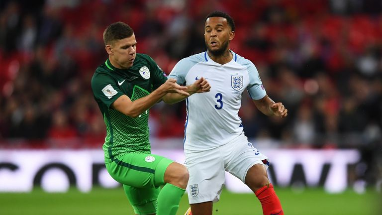 Ryan Bertrand started against Slovenia