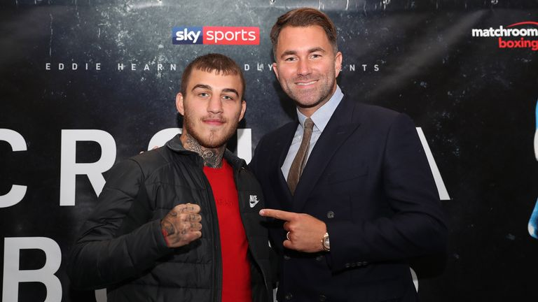 Eggington is hoping to take advantage of Matchroom Boxing and Eddie Hearn's new American venture