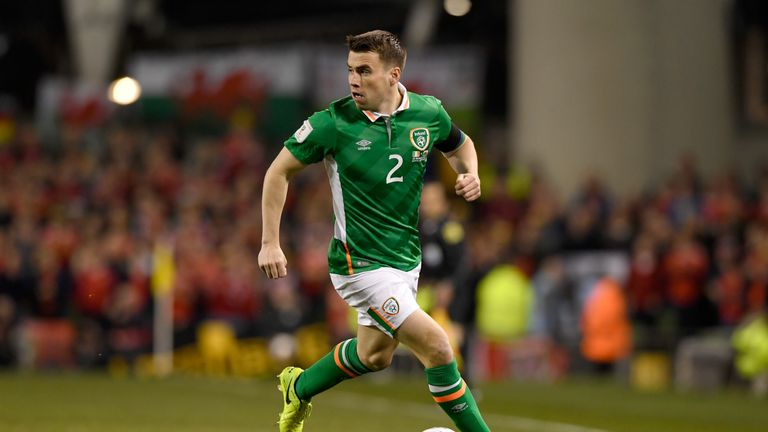 Seamus Coleman broke his leg playing for Republic of Ireland in March