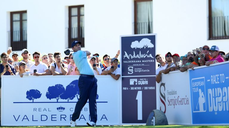 Tournament host  Sergio Garcia has a one-shot lead after 54 holes