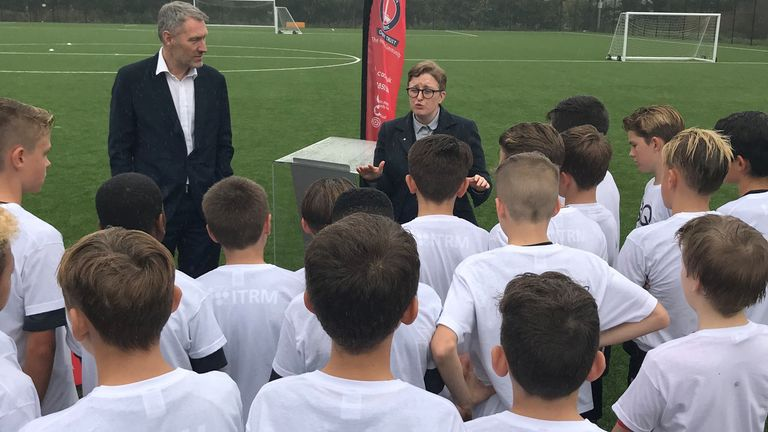 Stonewall chief executive Ruth Hunt says young people are learning positive messages on inclusion from the Rainbow Laces campaign