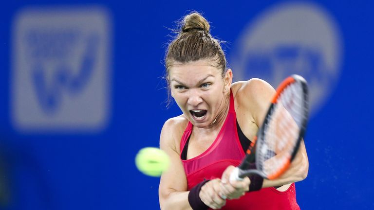 Halep sets up Sharapova rematch in Beijing
