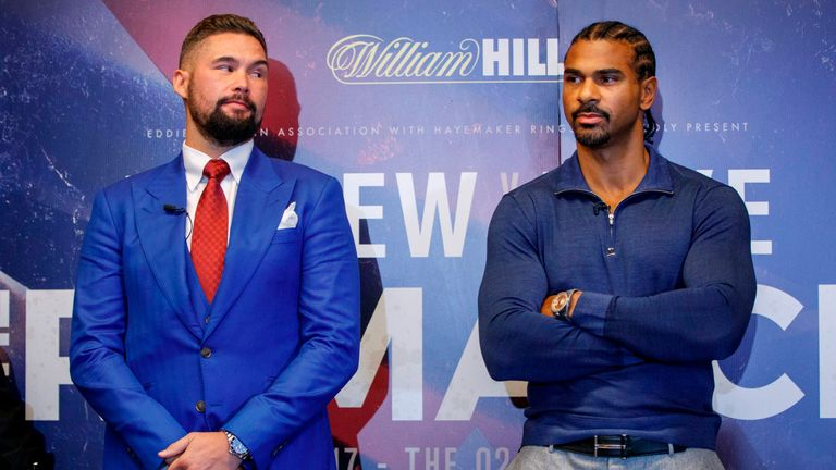 Tony Bellew will resume his rivalry with David Haye in their rematch on May 5, live on Sky Sports Box Office