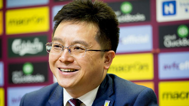 Tony Xia has been punished for a tweet which implied a referee was against Aston Villa