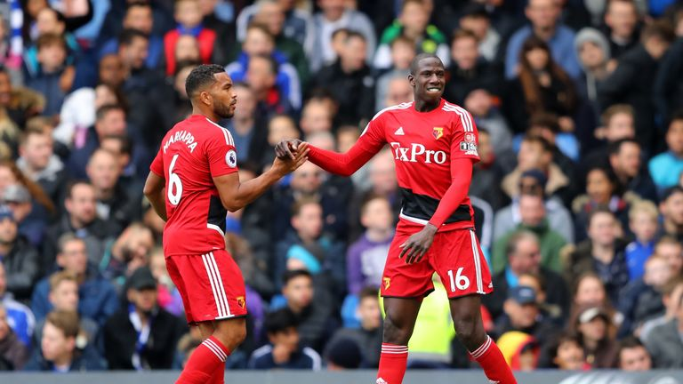 Abdoulaye Doucoure celebrates his side's first goal