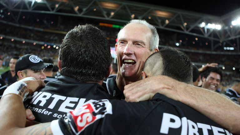 Wayne Bennett assisted New Zealand coach Stephen Kearney as the Kiwis lifted the World Cup in 2008