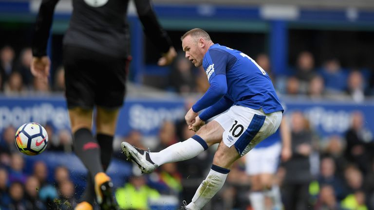 Wayne Rooney had given Everton the lead against the run of play