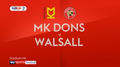 MK Dons 1-1 Walsall