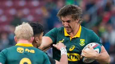 Eben Etzebeth returned to full training on Monday after recovering from an ankle injury