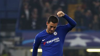 Eden Hazard struck with 15 minutes to go in an entertaining 3-3 draw