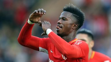 Keita Balde celebrates after scoring for Monaco