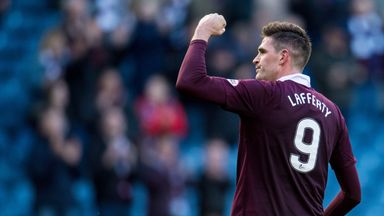 Kyle Lafferty scored the winner for Hearts