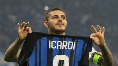 Mauro Icardi scored a hat-trick in Inter Milan's 3-2 win over AC Milan