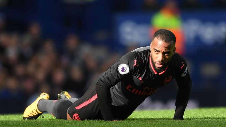 Arsenal during the Premier League match between Everton and Arsenal at Goodison Park on October 22, 2017 in Liverpool, England.