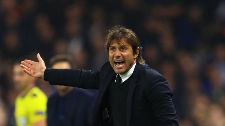 Chelsea manager Antonio Conte during the UEFA Champions League, Group C match at Stamford Bridge, London.