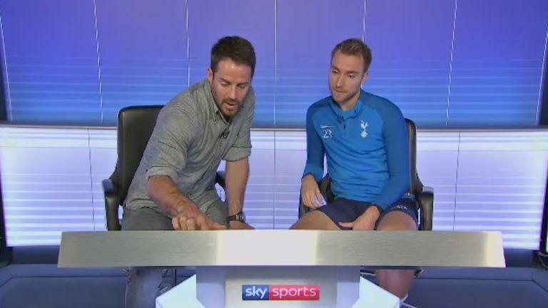 Jamie Redknapp sat down with Tottenham midfielder Christian Eriksen