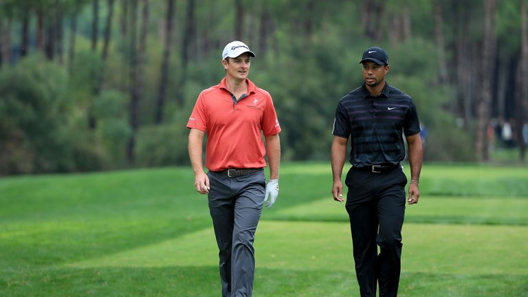 Justin Rose and Tiger Woods