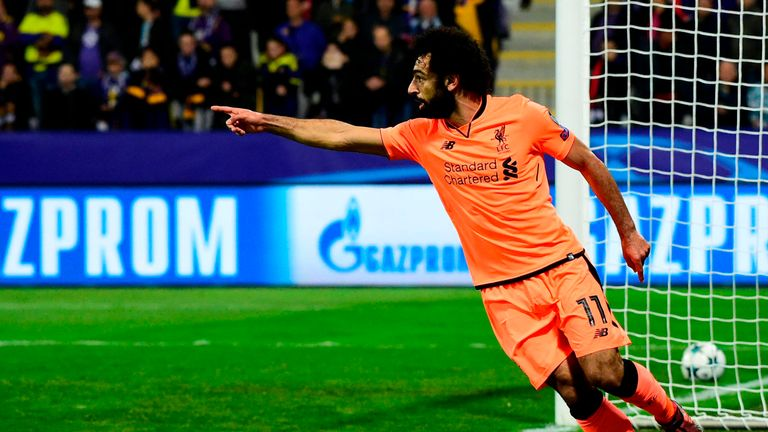 Mohamed Salah struck twice in the first half for Jurgen Klopp's side