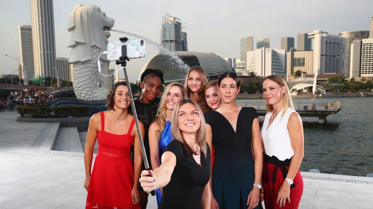 Caroline Garcia, Venus Williams, Elina Svitolina, Simona Halep, Garbine Muguruza, Karolina Pliskova, Caroline Wozniacki and Jelena Ostapenko