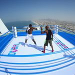 WATCH: Anthony Joshua trains in world's highest boxing ring | Boxing News | Sky Sports