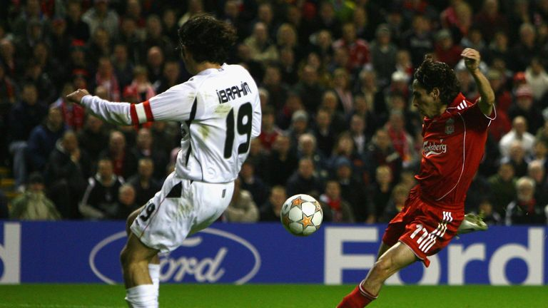 Yossi Benayoun scored a hat-trick in Liverpool's record 8-0 win against Besiktas