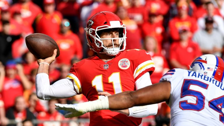Quarterback Alex Smith may be in danger of losing his job in Kansas City