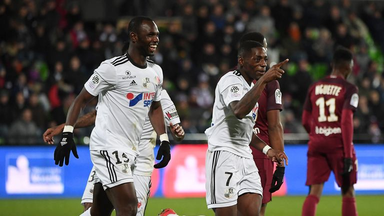 Moussa Konate's goal helped Amiens stay two points above the relegation zone