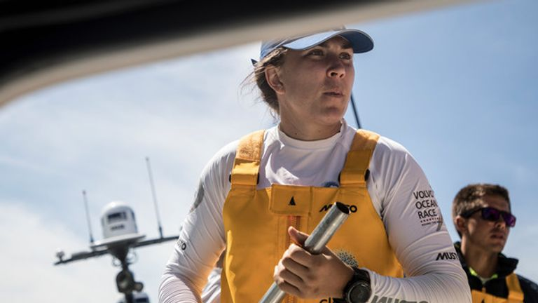 Irish sailor Annalise Murphy is an Olympic silver medallist (Pic: Jeremie Lecaudey/Volvo Ocean Race)