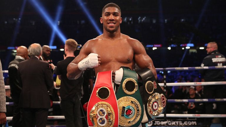 Anthony Joshua holds the WBA 'super' and IBF belts