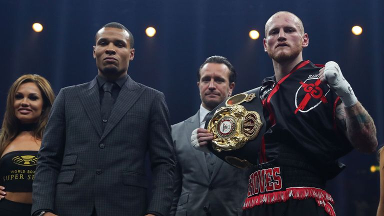 George Groves (right) will meet Chris Eubank Jr in Manchester on February 17