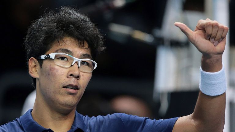 Chung crushes Rublev to seal semis spot
