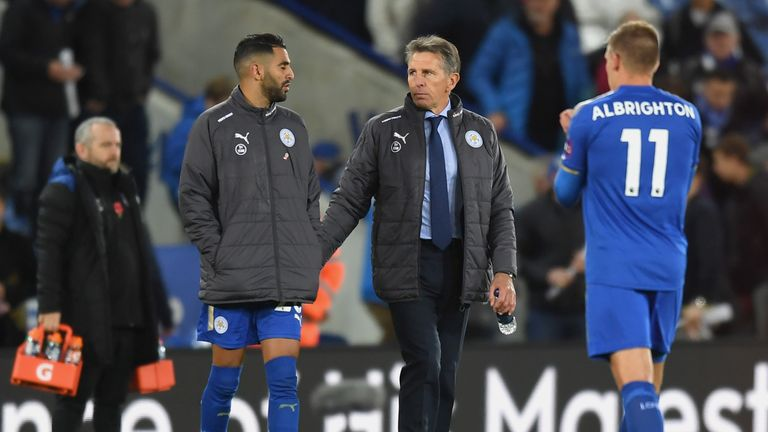 Riyad Mahrez  has impressed in the first two games of Puel's reign