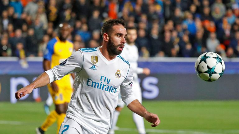Real Madrid's Dani Carvajal facing two-game UEFA ban | Football News on juan francisco moreno fuertes, jonathan soriano casas, pablo gil, pablo sarabia,