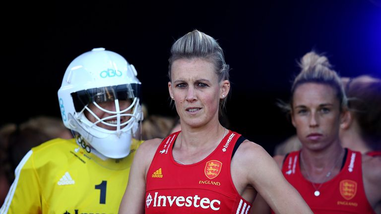 Alex Danson (C) will captain England for the squad's next three major international competitions