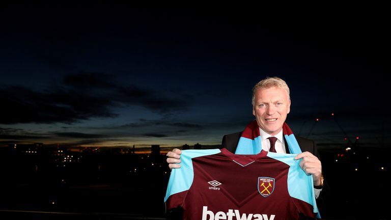 David Moyes was appointed as Slaven Bilic's successor on Tuesday and given a six-month contract