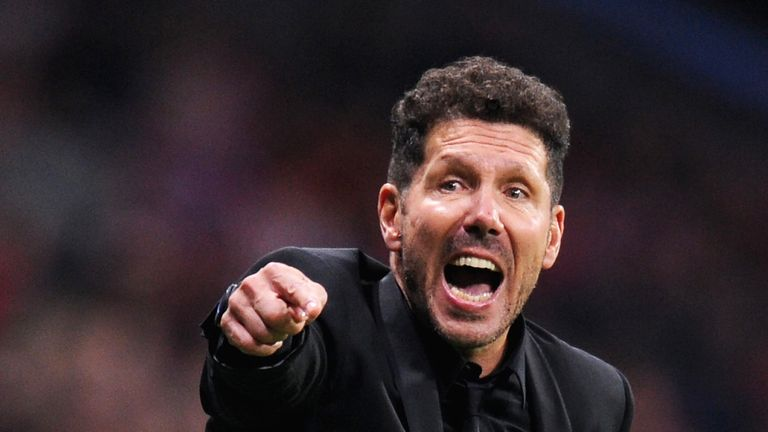 Diego Simeone has spoken out about Real Madrid's stockpiling of young Spanish talent