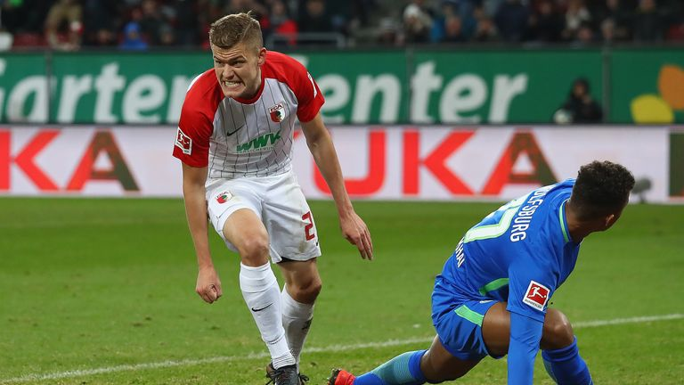 Alfred Finnbogason found the net for Augsburg