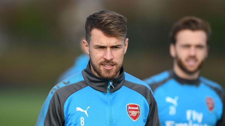Aaron Ramsey will miss both legs of Arsenal's Europa League last-32 fixture