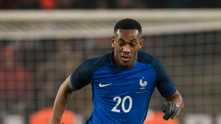 Anthony Martial is on standby for France, but is not heading to Russia at the moment