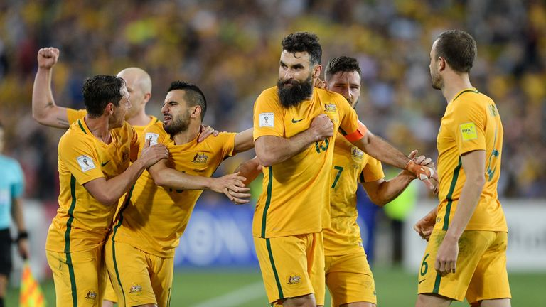 Mile Jedinak scored twice to send Australia to Russia next summer