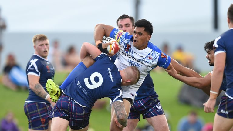 Samoa survives Scotland scare to advance to quarterfinal