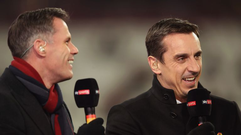 Jamie Carragher and Gary Neville are part of Sky Sports' award-winning Premier League team