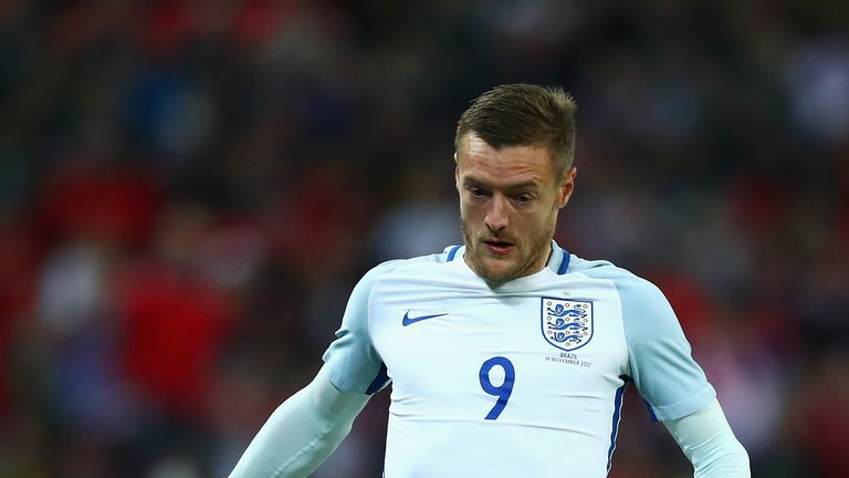 Jamie Vardy started alongside Marcus Rashford at Wembley