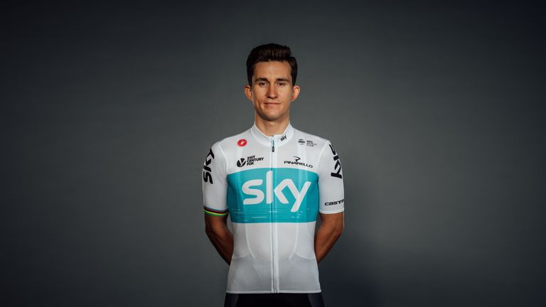 Michal Kwiatkowski in the new jersey for the 2018 season