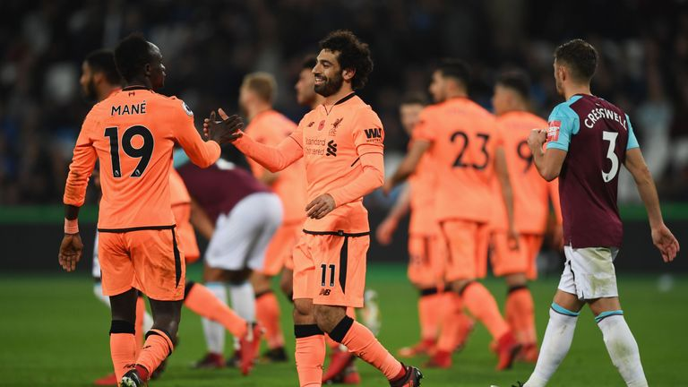 Salah shone as Liverpool defeated West Ham 4-1 on Saturday