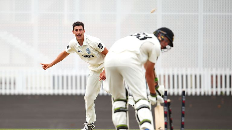 Image result for Ominous Starc makes hat-trick record