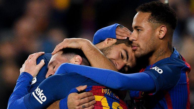 Neymar (right) left Barcelona last summer