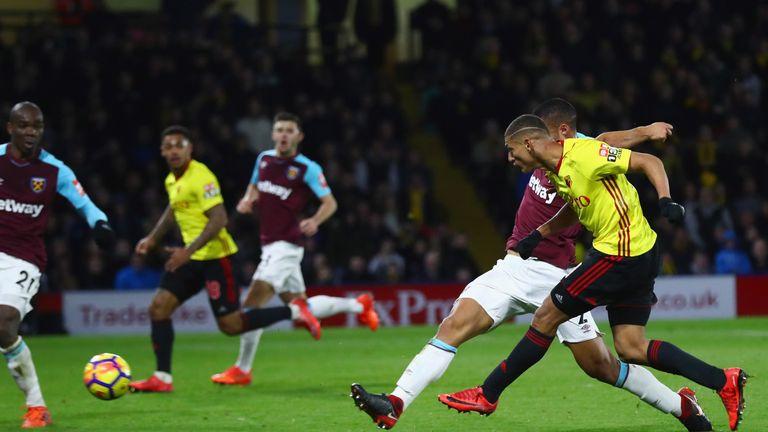 Richarlison scores Watford's second goal