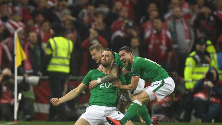 Shane Duffy put the Republic 1-0 up in Dublin