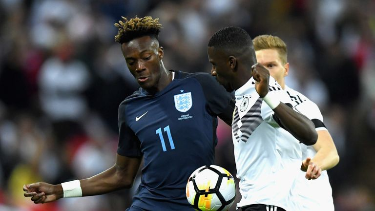 Tammy Abraham made is England debut at Wembley